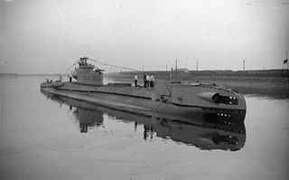 HMS <i>Terrapin</i> (P323) Royal Navy T class submarine in service 1944-1945