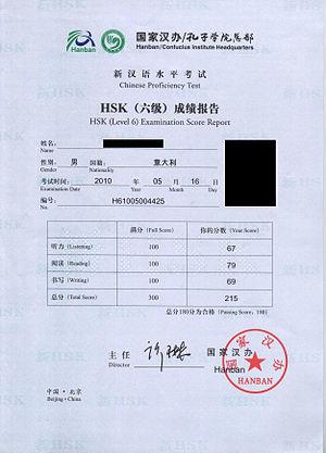 Italiano: Certificato HSK