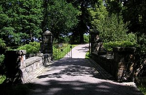 Kungliga begravningsplatsen - The bridge and gates to the cemetery in Haga Park