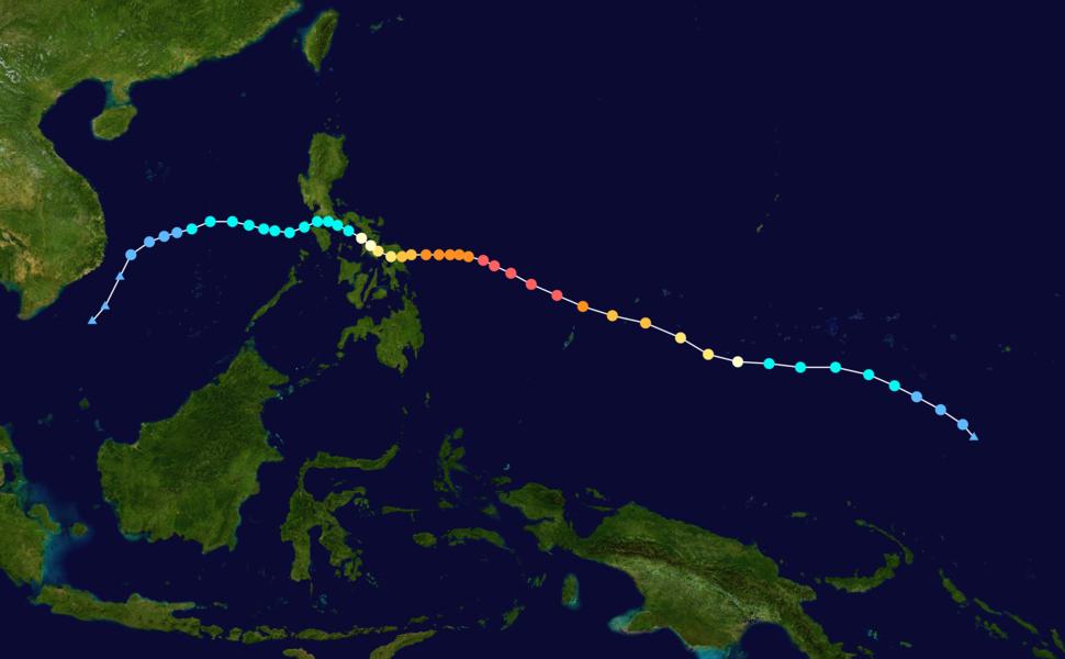 Hagupit 2014 track