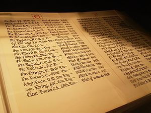 Halifax Central Library - One of the Books of Remembrance on display at the new library