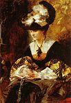 Hans Makart - Bildnis Gräfin Palffy (Die Betende) 1880 Öl auf Holz 127P5 x 90 Web.JPG