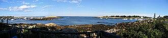 Matinicus Isle, Maine - Panorama of the harbor in 2006