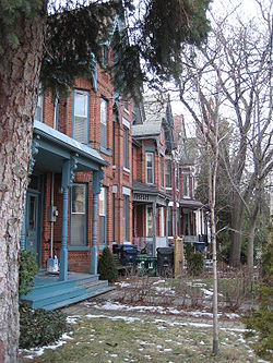 Bay-and-gable houses in Harbord Village