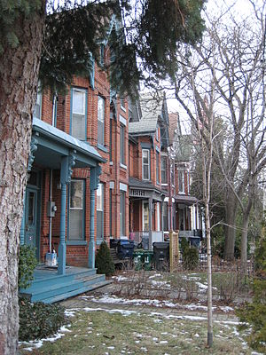 Harbord Village - Bay-and-gable houses in Harbord Village
