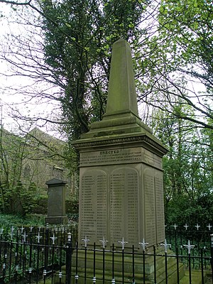 Hartley Colliery disaster - Monument in Earsdon churchyard.