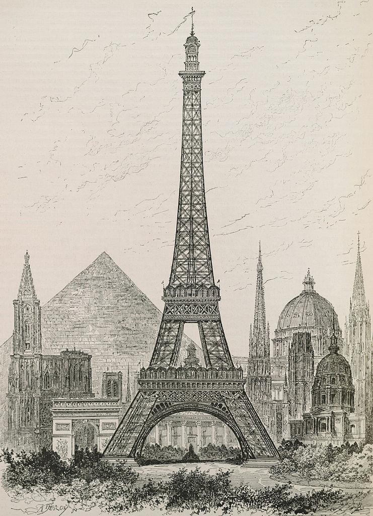 File hauteur compar e de la tour eiffel et des principaux monuments du monde - Tour eiffel dimension ...