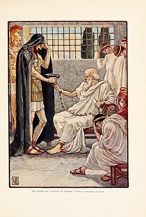 Trial of Socrates - The Death of Socrates (399 BC): He drank the contents as though it were a draught of wine.