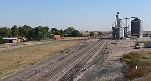 Heartwell, Nebraska - Heartwell, seen from overpass on U.S. Highway 34