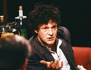 Heathcote Williams - Appearing on television discussion programme After Dark in 1988