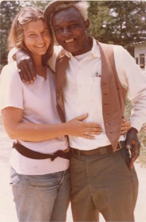 Hedwig Gorski - Hedwig Gorski with Babe Stovall on a 1973 trip to rural Mississippi to visit blues guitarist Roosevelt Holts.
