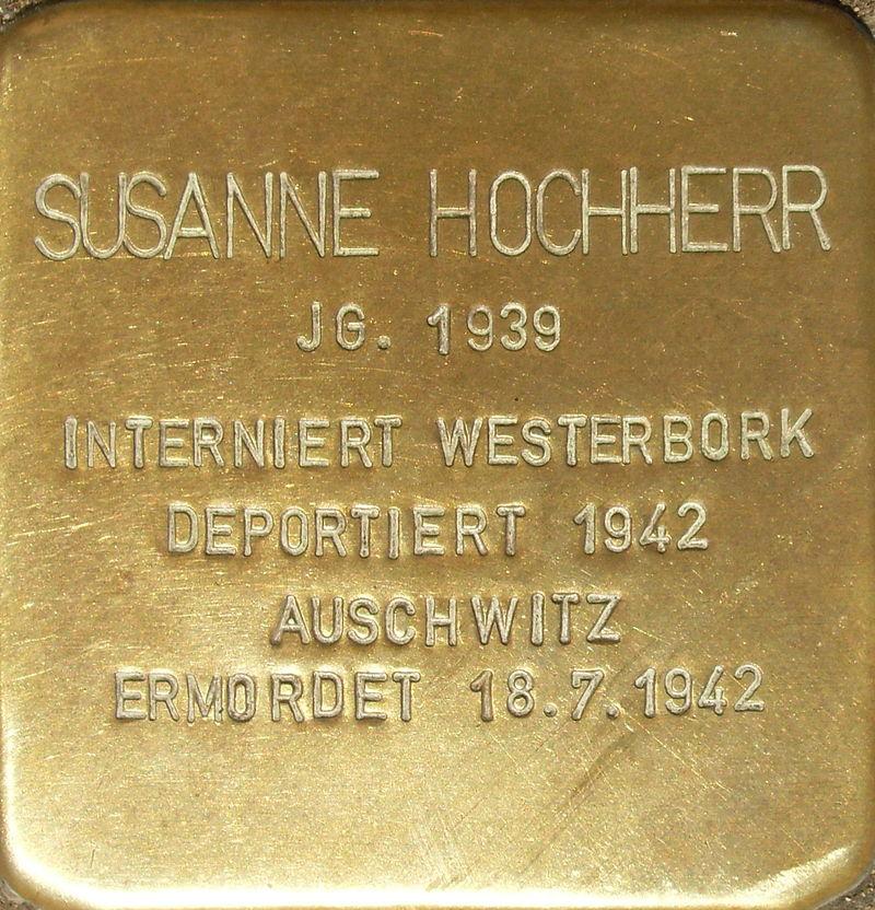 Heidelberg - Stolpersteine Susanne Hochherr.jpg