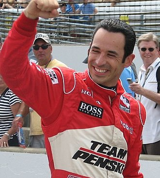 Hélio Castroneves - Castroneves at the Indianapolis Motor Speedway for Carb Day for the 2009 Indianapolis 500.