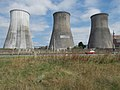 Heller-Forgó cooling towers, Inota Power Plant from south, 2017 Várpalota.jpg