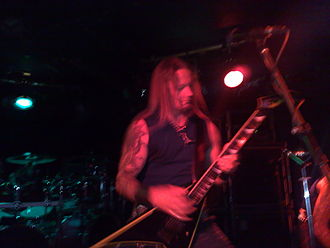 Belphegor (band) - Frontman/guitarist Helmuth performing with Belphegor in London, England, September 2008
