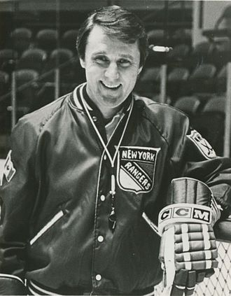 Herb Brooks - Brooks in 1983 coaching the New York Rangers.