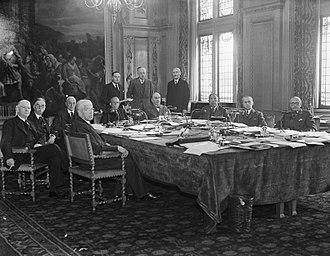 Manley Ottmer Hudson - Hudson (left) at the Permanent  International Court of Justice (1945)