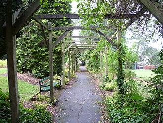 Highlands Gardens - The pergola.
