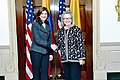 Hillary Rodham Clinton meets with Maria Angela Holguin Cuellar 2013-01-15.jpg
