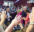 Hillary and Bill Clinton with Tim Kaine and Anne Holton at post-DNC rally (28020264914).jpg