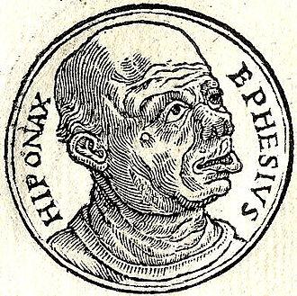 Hipponax - Hipponax from Guillaume Rouillé's Promptuarii Iconum Insigniorum
