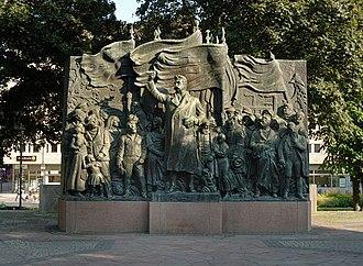 Hjalmar Branting - Monument to Hjalmar Branting at Stockholm