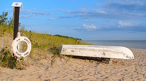 National Register of Historic Places listings in Presque Isle County, Michigan - Image: Hoeft St Park Beach Life Boat