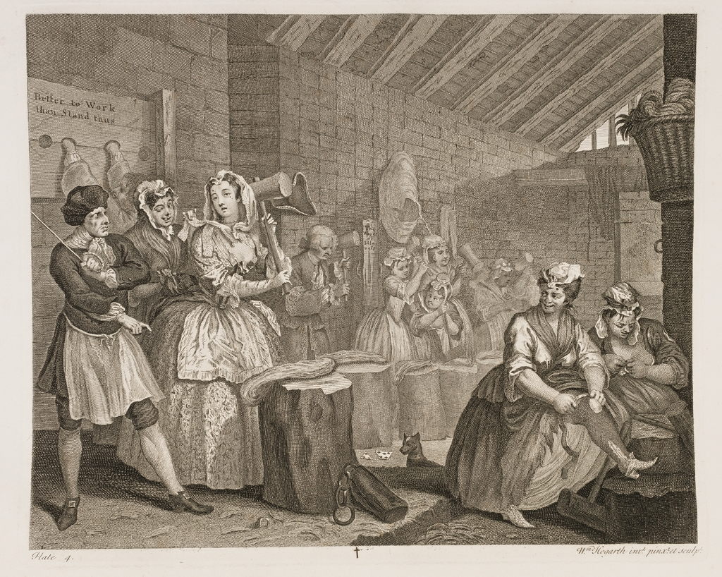A Harlot's Progress, Plate 4