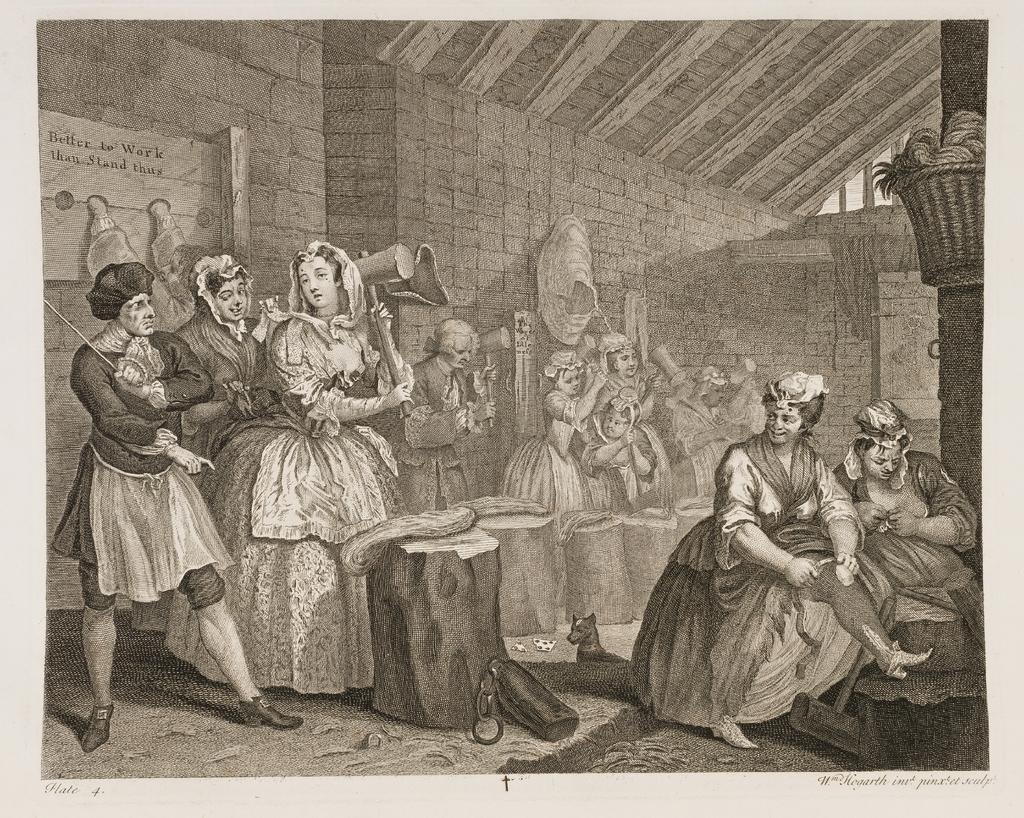 A Harlot's Progress, Plate 4