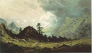 Ransome Gillett Holdridge - Indian Camp in the Cascades