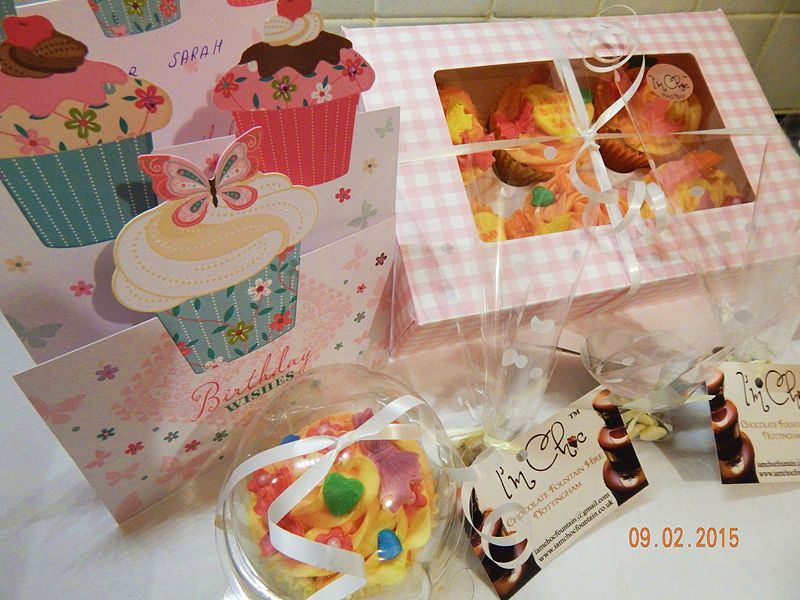File:Home Made Cupcakes sets with Delivery within 10 miles (sugar topping ).JPG