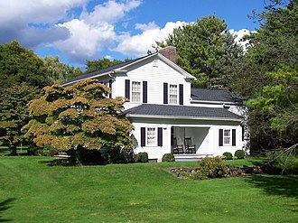 Horace and Grace Bush House - Image: Horace And Grace Bush House Penfield New York Side View