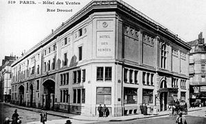 Hôtel Drouot - Hôtel Drouot in an old postcard