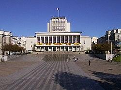 The city hall, place de la Liberté