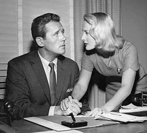 "Howard Duff - Howard Duff and Eileen Ryan in  ""A World of Difference"", an episode of The Twilight Zone, 1960."