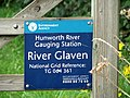 Hunworth River Gauging Station - sign with national grid reference - geograph.org.uk - 547719.jpg