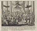Huwelijk tussen Lodewijk XV en Maria Lesczinska Op den 7 Sept. 1725 is den Koning van Vrankryk Lodewyk de XV, met Princes Maria, dogter van Stanislaw, door den Cardinaal de Rohan Groot Aalmoesenier van Vrankryk, tot Fon, RP-P-1907-2129.jpg