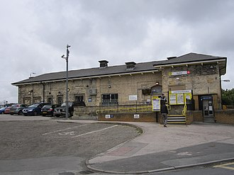 Huyton railway station - Image: Huyton railway station building