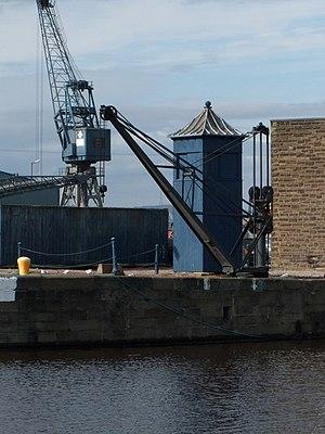Andrew Betts Brown - Bett Brown's Hydraulic Crane, at the Albert Dock, Leith