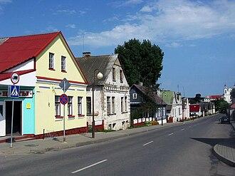 Iwye - Image: Iŭje, Kaścielnaja. Іўе, Касьцельная (2010)