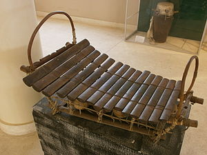 Music of Mali - A Bwa xylophone.