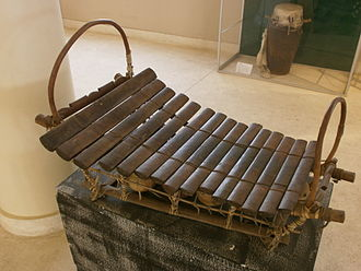Music of Mali - A Bwa xylophone.