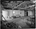 INTERIOR, WORK AREA, LOOKING WEST - F. E. Booth Company Pier, Bolinas, Marin County, CA HABS CAL,21-BOLI,1-9.tif