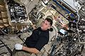 ISS-50 Shane Kimbrough with the Group Combustion Module in the Kibo lab.jpg