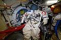 ISS-56 EVA-2 Orlan spacesuit No. 5 inside the Pirs airlock.jpg