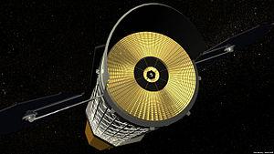 International X-ray Observatory - NASA conception of IXO, mirror view, artist's impression.