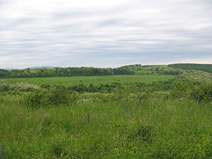 Transdanubia - Hills near Ibafa, with Mecsek Mountains in the distant background