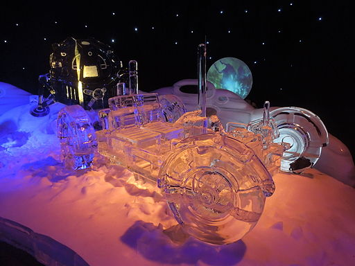 Ice Sculpture Space Vehicle