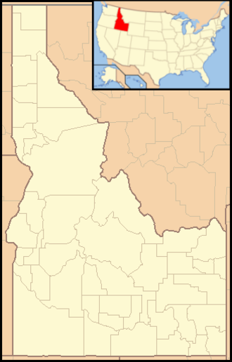 Farragut State Park - Image: Idaho Locator Map with US