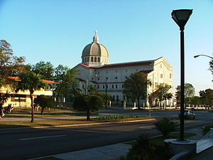 "Miramar, Havana - The church ""Jesus de Miramar"" on Quinta Avenida in Miramar"